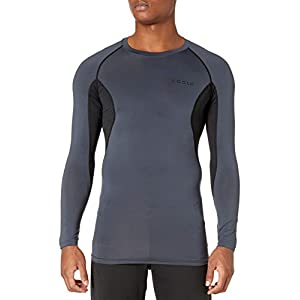 TSLA Men's (Pack of 1, 2, 3) Long Sleeve T-Shirt Baselayer Cool Dry Compression Top