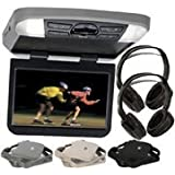 Audiovox AVXMTG10UA 10 Overhead Monitor W/ Built-In DVD Player USB/SD Input & Remote includes 2 wireless headphones