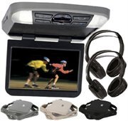 Audiovox AVXMTG10UA 10'' Overhead Monitor W/ Built-In DVD Player USB/SD Input & Remote includes 2 wireless headphones