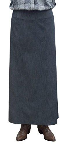 BabyO Womens Long Ankle Length Stretch Denim A-Line Panel Skirt