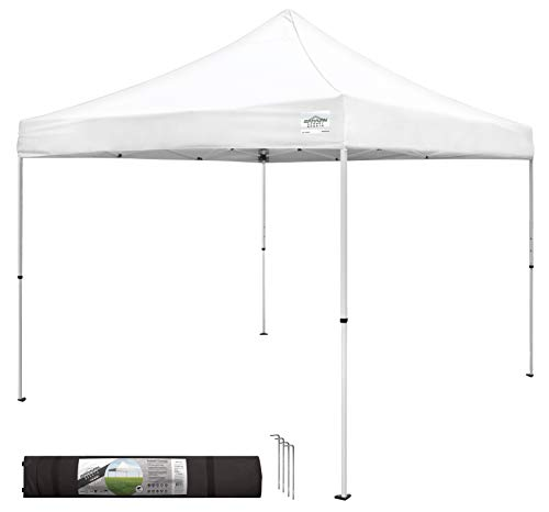 Caravan Canopy M-Series 2 Pro 10 X 10 Foot Straight Leg Canopy Kit, White
