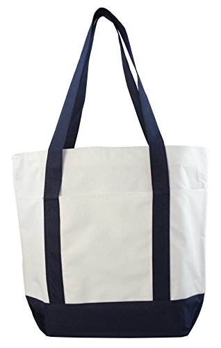 Large Daily Poly Zippered Tote Bag by Ensign Peak