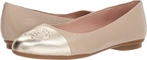 Taryn Rose Women's Annabella Ballet Flat, Ceramic/Platinum, 7.5 M Medium US ()