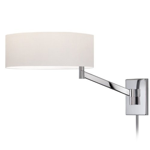 (Sonneman 7080-01 1 Light Swing Arm Wall Lamp Perch Collection Polished Chrome)