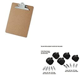 KITMAS23624UNV40304 - Value Kit - Master Caster Deluxe Casters (MAS23624) and Universal 40304 Letter Size Clipboards (UNV40304)
