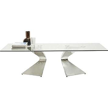 Et Kare Design GloriaAmazon Table Chrome En Verre Basse nXOk80wP