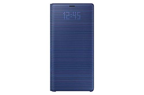 Samsung Galaxy Note9 Case, LED View Wallet Cover, Ocean Blue (Samsung Galaxy Note 3 S View Case)