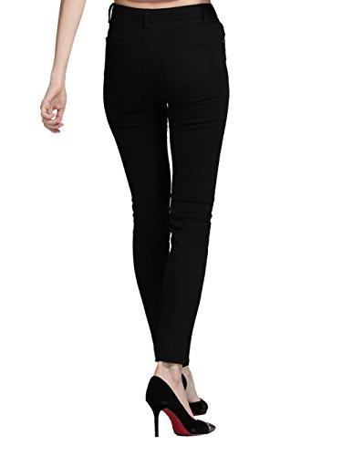 Negro amp; Pantalones Mujer Vaqueros Alice Stretch Skinny Elmer Cintura para Alta 4YYvfan