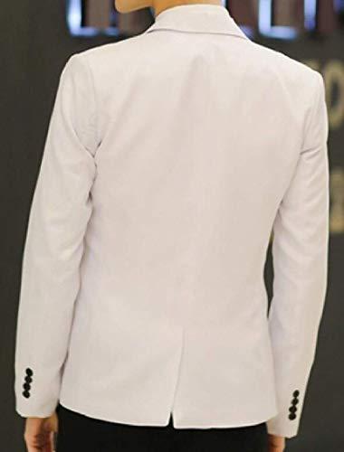 Fit Style Slim Bouton Costumes 1 Manches Men À Loisirs Pour Longues Business Casual Mode Blazer De Homme Blanc Veste Marque Vestes 1x4qw