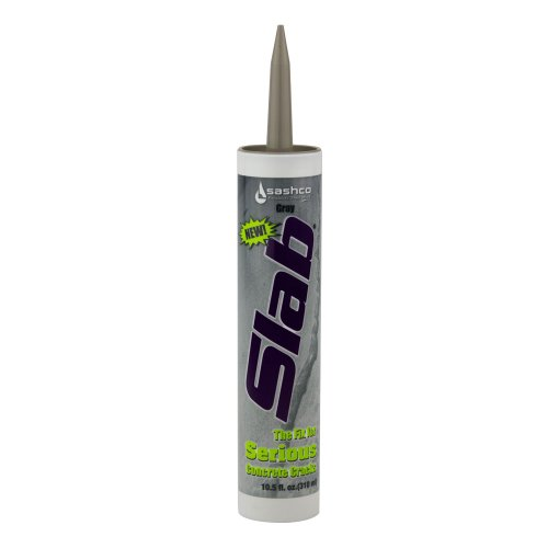 Sashco 16210  Slab Concrete Crack Repair Sealant, 10.5 oz Cartridge, Gray (Pack of 1) Concrete Crack Seal
