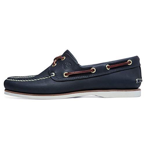 - Timberland Men's Classic 2-Eye Boat Shoe Rubber Boat shoe,Navy ,7.5 W US