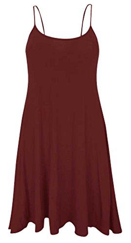 Baliza - Vestido suelto de tirantes para mujer, talla40-42, color azul Wine