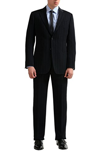 Armani Suit (Armani Collezioni Men's Striped Two Button Suit US 40R IT 50R;)
