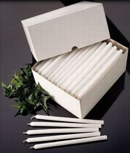 Candles4Less - 7/16 X 8'' Mechanical Refill Candles - White (576 pcs/cs) Perfect for Churches, ceremonies Made in USA