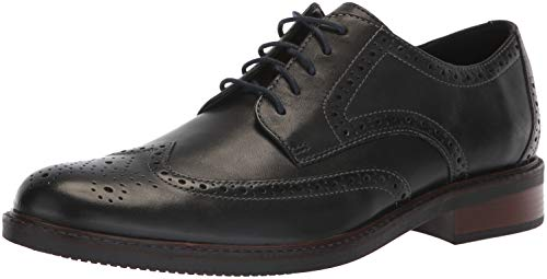 Bostonian Men's Maxton Wing Oxford, Black Leather, 10 M - Mens Dress Bostonian Shoes