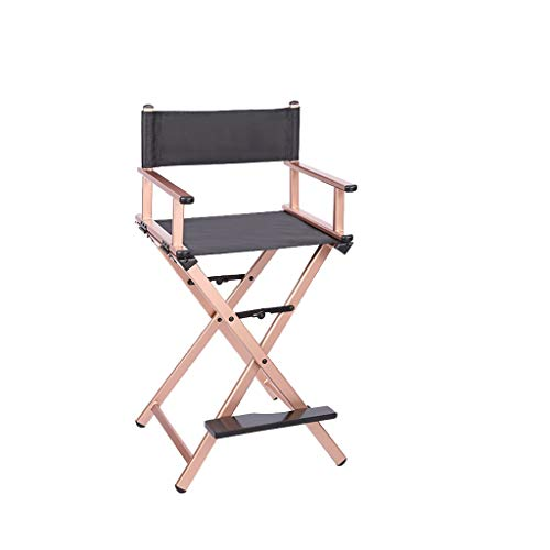 VAIY Premium Tall Makeup Chair Folding Makeup Telescopic Artist Director Chair Portable Makeup Chair (Color : Rose Gold) Director Leatherette Office Chair