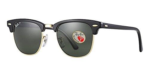 Ray-ban Rb3016 Klassiske Clubmaster Solbriller Solid Polarisert Linse