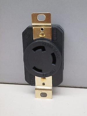 NEMA L6-30R Turn-Twist-Lock Locking Receptacle Outlet 30A 250V 2P 3W L6-30 Locking Receptacle Twist Lock