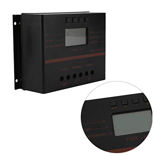 AMPM24US Solar Charger 12V 24V 80A LCD with USB Solar Battery Panel Regulator Discharge PWM Intelligent Solar Controller by AMPM24US (Image #3)