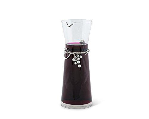 Vagabond House Pewter Grape Vineyard Band Wine Carafe/Decanter 10