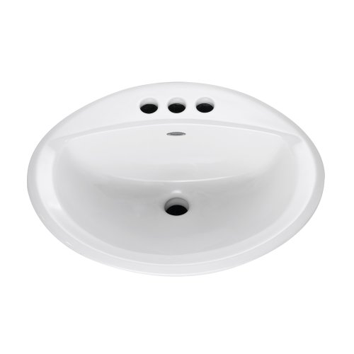 Self Rimming China Lavatory (American Standard 0476.928.020 Aqualon Self-Rimming Countertop Lavatory Sink with 4-Inch Less Overflow,)