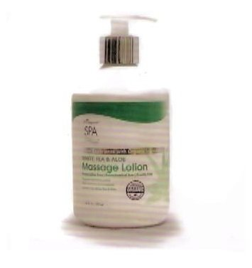 B2 Organic Spa White Tea & Aloe Massage Lotion 16.79 oz.