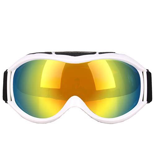 Adisaer Mountain Bike Goggles ski Glasses Over Spherical Double Anti Fog Windproof White for Men