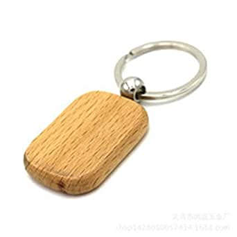 Simple Elegant Bamboo wood Key chain