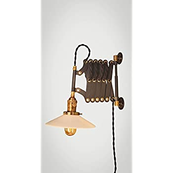 1940s Industrial Scissor Lamp Vintage Expandable Wall