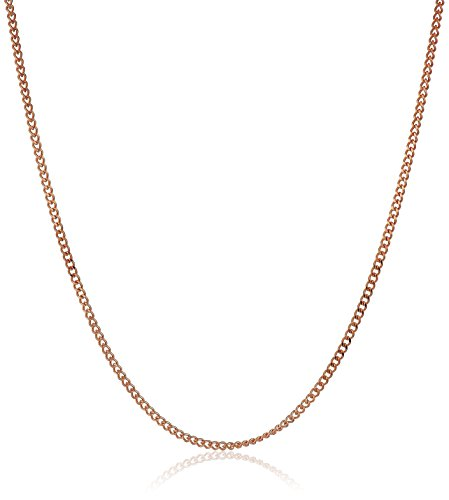 14k Rose Gold Lightweight Curb Chain 0.8mm Chain Necklace, 16