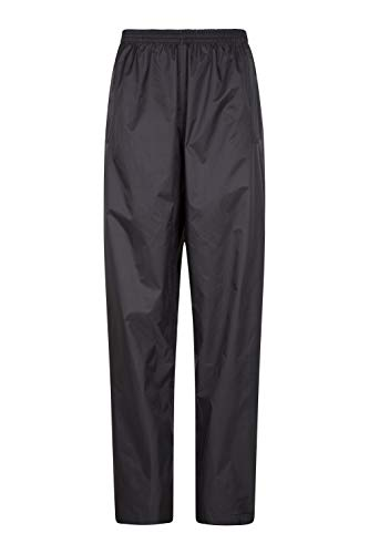 Mountain Warehouse Pakka Womens Waterproof Rain Over Pants - Packaway Bag Black 8