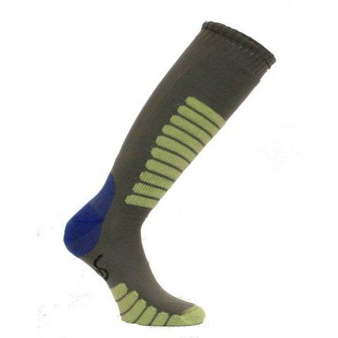 Euro Sock NEW Eurosock Supreme Lightweight Ski Sock Gray Mint Model #0412 - Large/Gray ()