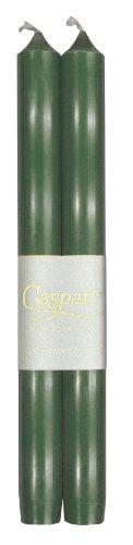 entertaining with caspari Taper velas, antigoteo, sin humo, sin perfume, 25.4cm, conjunto de 2, Blanco, 1