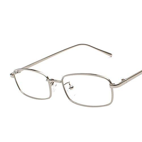Aoligei Morceau d'océan transparent Lunettes de soleil Fashion petit en carré cadre métal verres rue shoot lunettes de soleil V055vE