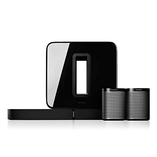 Sonos 5.1 Home Theater Digital Music System (PLAYBASE, SUB, PLAY:1) - Black by Sonos