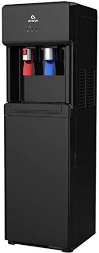 Avalon A6BLK A6 Bottom Loading Cooler Dispenser-Hot Cold Water, Child Safety Lock, Innovative Slim Design Black , free standing