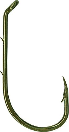 Mustad Beak Hook Forged Baitholder, 3/0 Size, 100-Pack, Bronze Finish