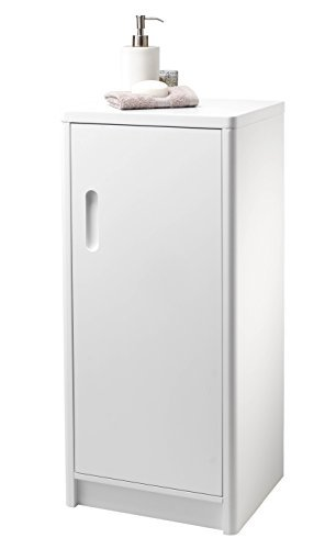 Newbury- Freestanding Matt White Single Door Bathroom Cabinet by - Newbury Shopping