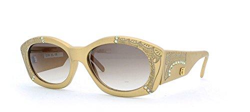 Emmanuelle Khanh 118 G1 0R Gold Authentic Women Vintage Sunglasses (Emmanuelle Khanh)
