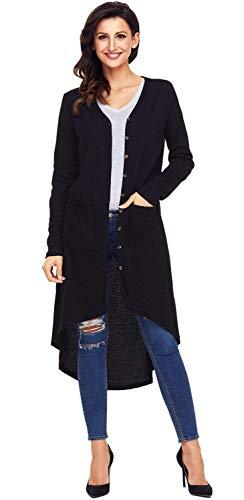 Saoye Couleur Elgante Cardigan Fashion Blouson Bouffant Unie Asymtrique Manches Vtements Manteau Branch Irrgulier Outerwear Femme Casual Longues Schwarz Printemps Longues Automne Sq1S68rw