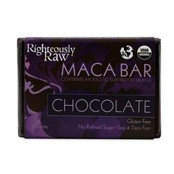 Gourmet Organic Raw Chocolate Bars - MACA COVERED CHOCOLATE TRUFFLE - 55% RAW DARK CHOCOLATE (01/2.3 oz Bar) (01 Chocolate)