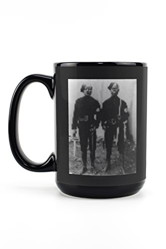 Policeman in Capetown South Africa Photograph (15oz Black Ceramic Mug - Dishwasher and Microwave Safe)