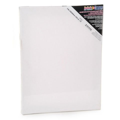 Bulk Buy: Darice DIY Crafts Stretched Canvas 12 x 16 inches 2 pieces (20-Pack) 97602 by Darice