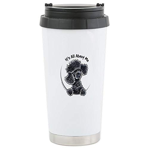 CafePress Black Poodle Lover Stainless Steel Travel Mug, Insulated 16 oz. Coffee ()