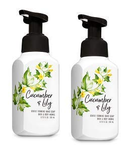Bath and Body Works 2 Cucumber and Lily Gentle Foaming Hand Soap. 8 Oz