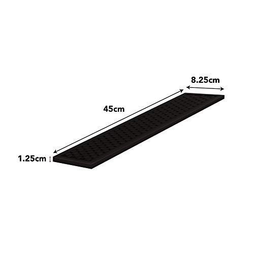Heavy Duty Silicone Bar Service Mat: (3.25'' x 18'') Food safe, Commercial Strength Bar & Restaurant Service Mat by Top Shelf Bar Supply (Image #4)
