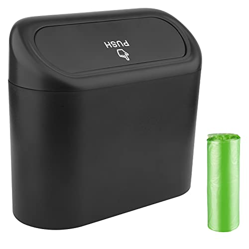 Car Trash Can, Mini Car Accessories with Lid...