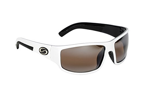 b22d3d6793 Strike King S11 Optics Caddo Polarized Sunglasses with Shiny White Black  Two-Tone Frames and Dark Amber Brown Lenses - Buy Online in Oman.