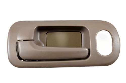 PT Auto Warehouse HO-2572B-FL - Inside Interior Inner Door Handle, Brown (Taupe) - 4-Door Sedan, with Power Lock Hole, Driver Side Front