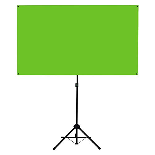 Valera Explorer 70 Inch Portable Green Screen for Streaming and Videos - Mounts on Tripod and Wall | Only 8 lbs | 2 min Setup | 16:9 Format | ChromaBoost Fabric with High Vibrancy for Low Lighting by On the Go Screens (Image #6)